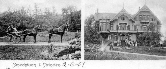 Foto tatt 1900 postkort