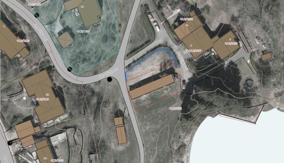 Kart som viser området foran gartneriet som skal brukes til parsellhager